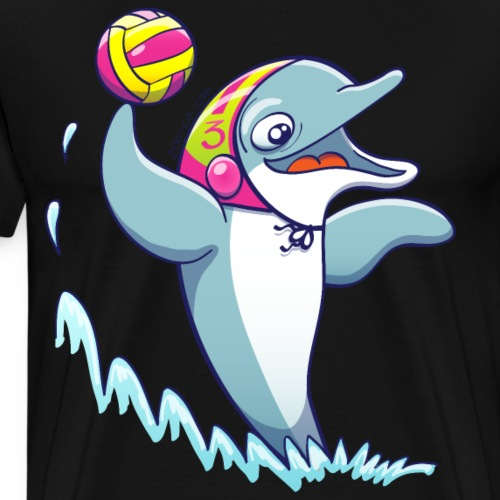 Dolphin Playing Water Polo - Men's Premium T-Shirt