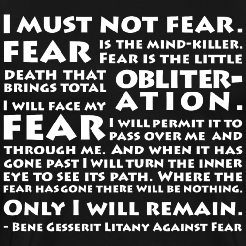 Litany Against Fear - Men's Premium T-Shirt