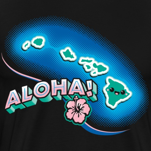 Hawaii Kawaii Cute Beach - Men's Premium T-Shirt