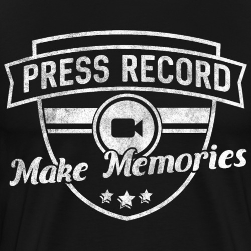 pressrecord_makememories2 - Men's Premium T-Shirt