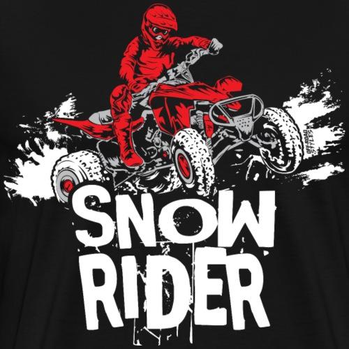 ATV Quad Snow Rider - Men's Premium T-Shirt