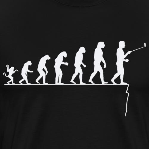 Evolution of man - deadly selfie - Men's Premium T-Shirt