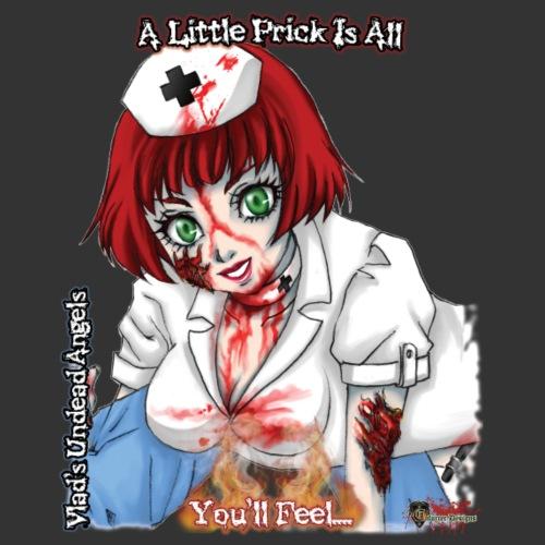 Zombie Nurse Abigail CloseUp Flamed - Men's Premium T-Shirt