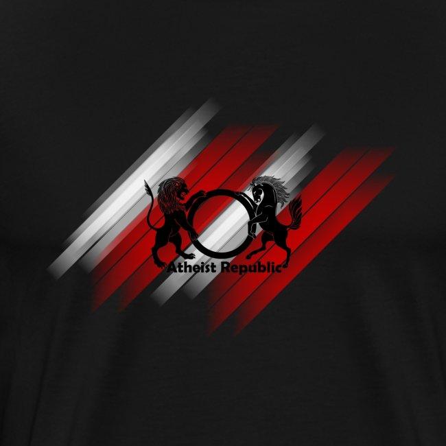 Atheist Republic Logo - Red & Black Stripes