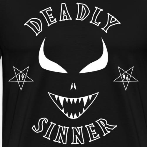 Deadly Sinner WHITE Logo - Men's Premium T-Shirt
