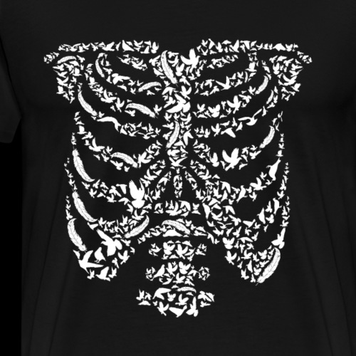 Ribcaged Bird | Halloween Bird Skeleton - Men's Premium T-Shirt