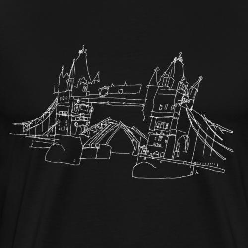 London Tower Bridge w - Men's Premium T-Shirt