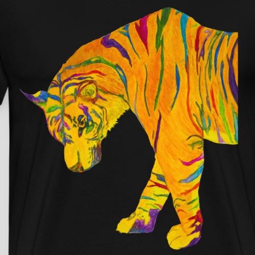contemplative tiger - Men's Premium T-Shirt