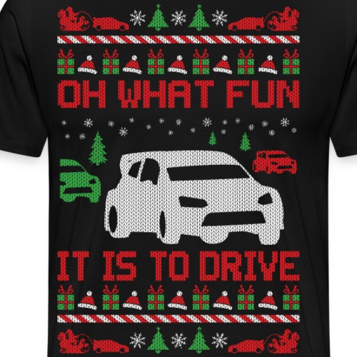 Rally Car Race Christmas - Men's Premium T-Shirt