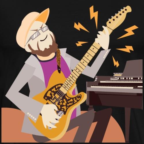 Dan Spiffy Neuman Music Logo #2 no BG #1 - Men's Premium T-Shirt