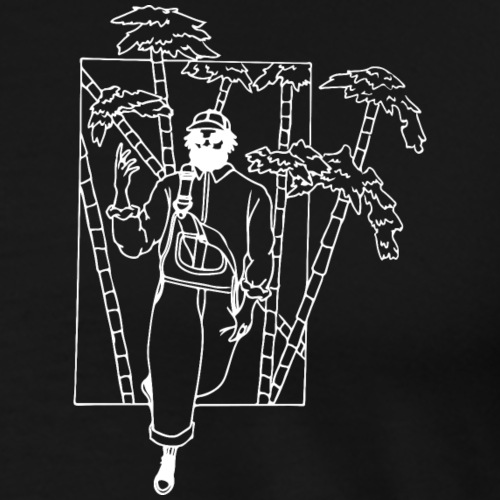 Urban style out of a bamboo forest - Men's Premium T-Shirt