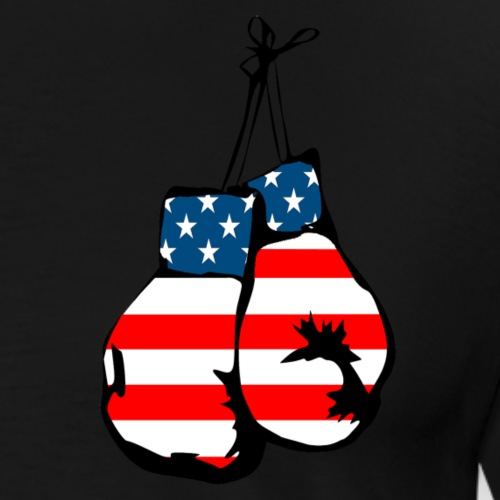 USA flag boxing gloves - Men's Premium T-Shirt
