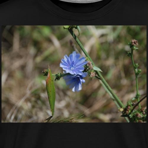 Blue Flower Nature Photo 02 - Men's Premium T-Shirt