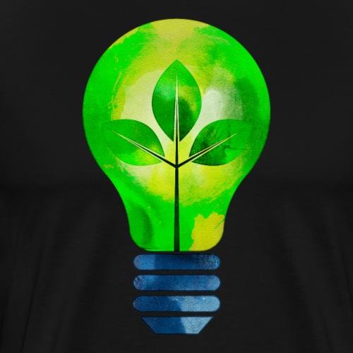 green leaves Light Bulb - Men's Premium T-Shirt