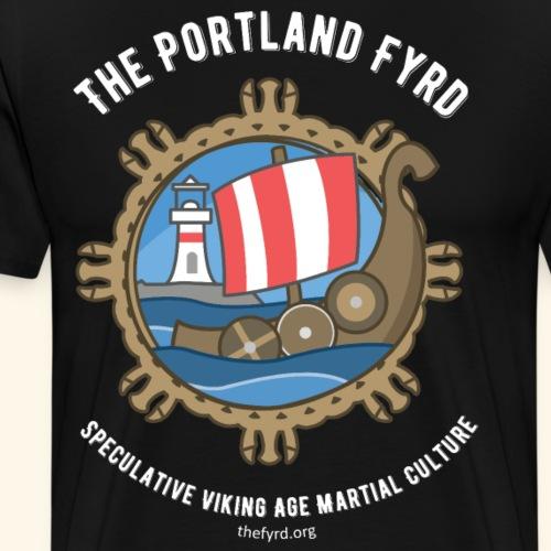 Portland Fyrd Logo and Text - Men's Premium T-Shirt
