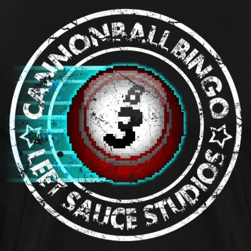Vintage Cannonball Bingo 8-Bit Ball Tee - Men's Premium T-Shirt