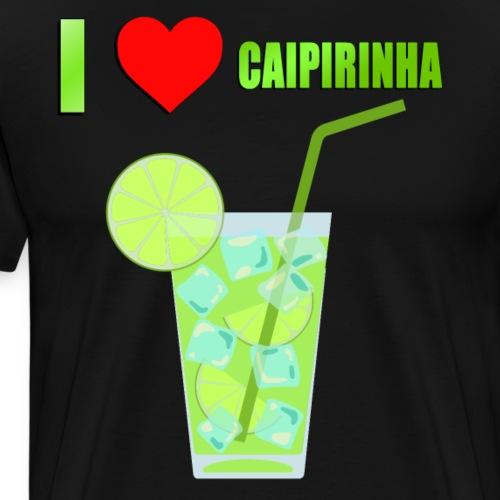 CAIPIRINHA COCKTAIL LOVE - Men's Premium T-Shirt