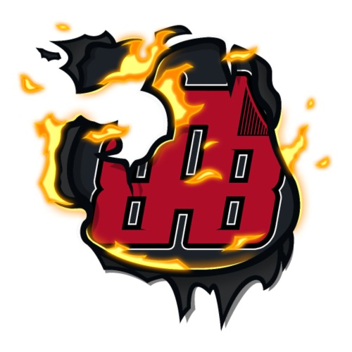 BAB Logo on FIRE! - Men's Premium T-Shirt