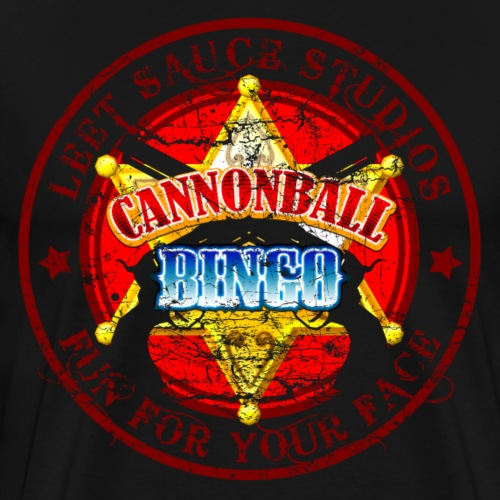 Vintage Cannonball Bingo Badge Red - Men's Premium T-Shirt
