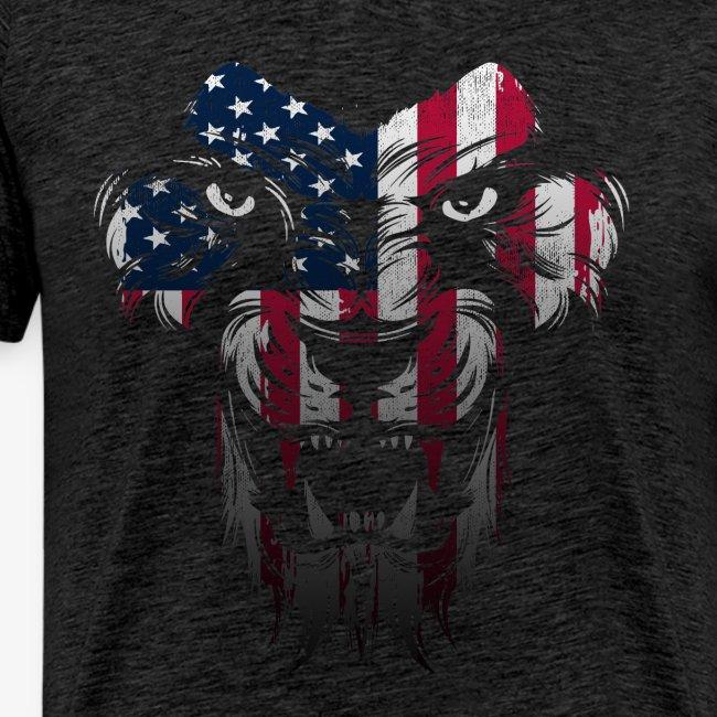 American Flag Lion Shirt