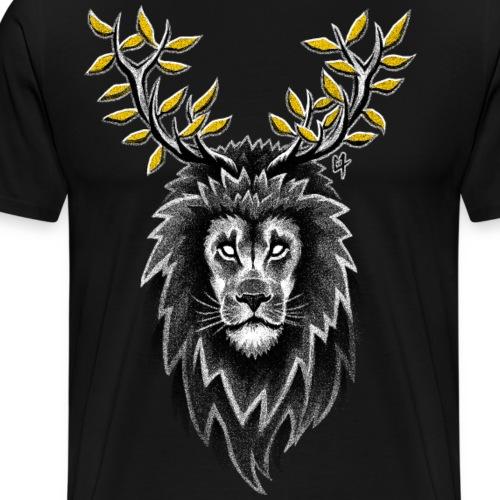 Deer Lion - Men's Premium T-Shirt