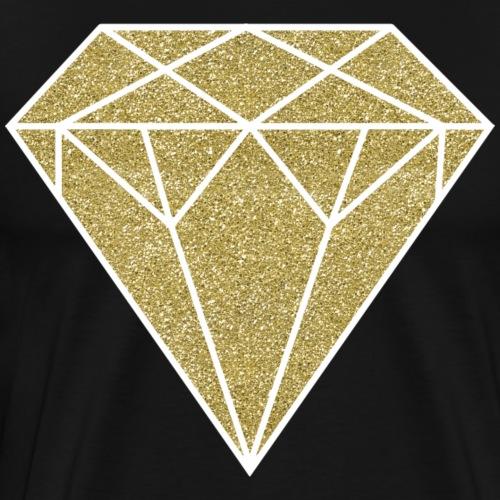 GOLD GLITTER DIAMOND - Men's Premium T-Shirt