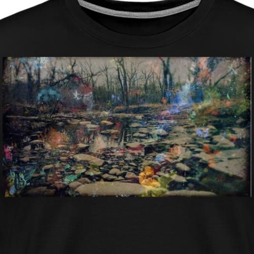 Splatter Paint Nature Photo 02 - Men's Premium T-Shirt