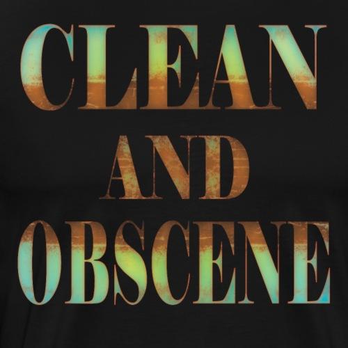 Clean and Obscene words4 - Men's Premium T-Shirt