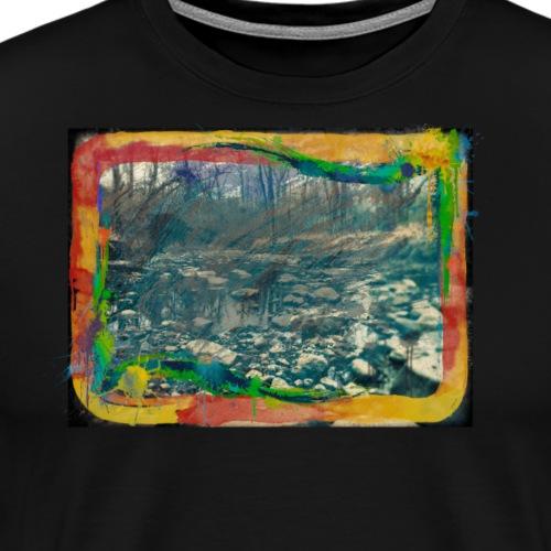 The Dark Painted Forest Nature Photo - Men's Premium T-Shirt