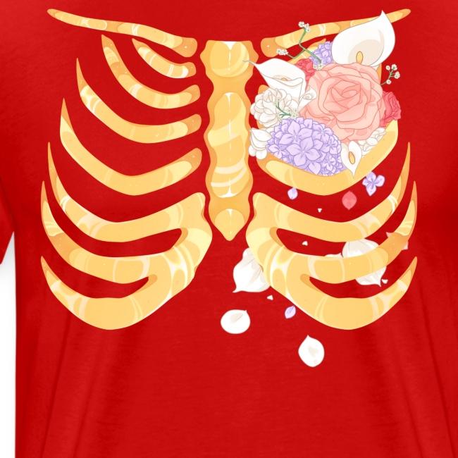 Pastel Goth Gold Rib Cage Shirt