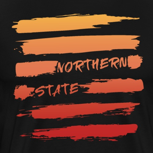 Brush Stroke Sunset - Men's Premium T-Shirt