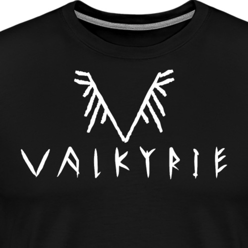 Valkyrie Viking Logo (white) - Men's Premium T-Shirt
