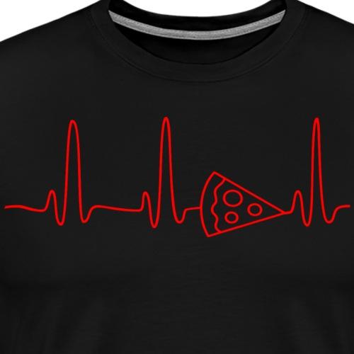 EKG HEARTBEAT PIZZA red - Men's Premium T-Shirt