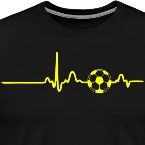 EKG HEARTBEAT BALL yellow - Men's Premium T-Shirt