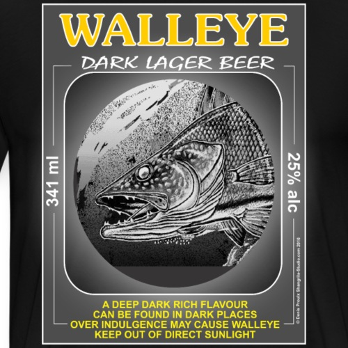 Walley Dark Lager Beer - Men's Premium T-Shirt
