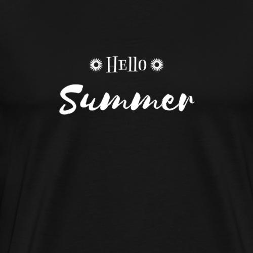 Hello Summer Sunshine Holiday - Men's Premium T-Shirt