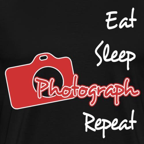 Eat Sleep Photograph Picture Art Design - Men's Premium T-Shirt