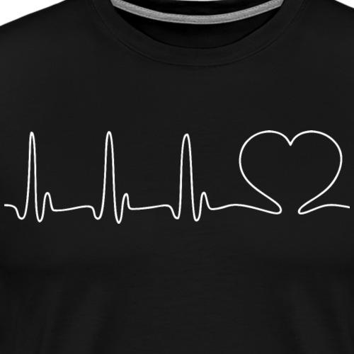 EKG HEARTBEAT white - Men's Premium T-Shirt