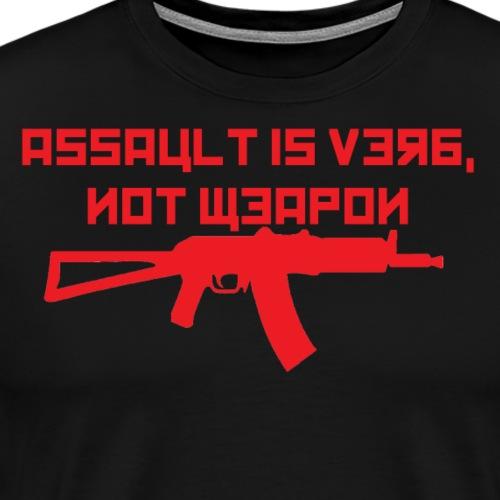 Verb not weapon Ak red - Men's Premium T-Shirt