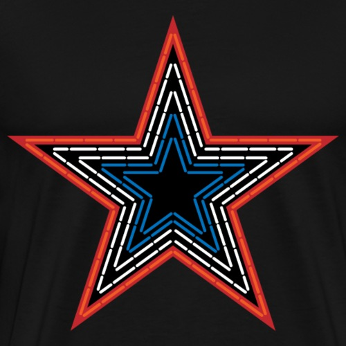 Roanoke Virginia Pride Mill Mountain Star - Men's Premium T-Shirt