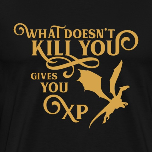 What Doesnt Kill You Gives You XP Dragon Tabletop - Men's Premium T-Shirt