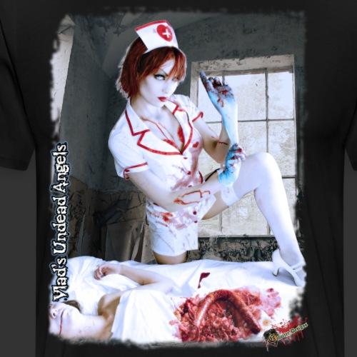 Live Undead Angels: Zombie Nurse Abigail 2 - Men's Premium T-Shirt