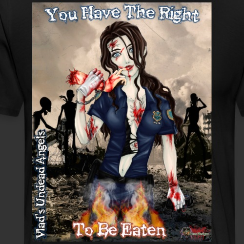Undead Angels Classics: Zombie Police Terri - Men's Premium T-Shirt