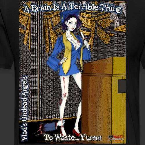 Undead Angels Classics: Zombie Graduate - Men's Premium T-Shirt