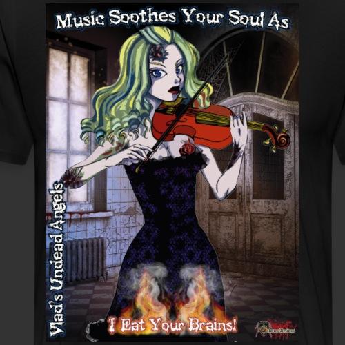 Undead Angels Classics: Zombie Violinist Ariel - Men's Premium T-Shirt