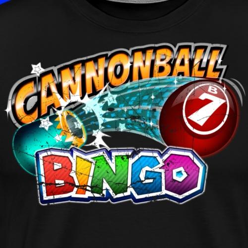 Vintage Cannonball Bingo Logo - Men's Premium T-Shirt