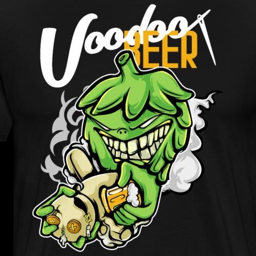 Hops Voodoo Priest with Beer - Men's Premium T-Shirt