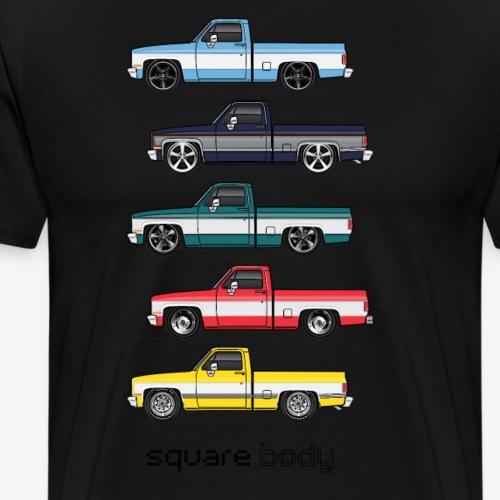 81 87 square bodies - Men's Premium T-Shirt