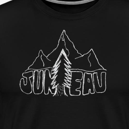 Juneau Sketch Design (White) - Men's Premium T-Shirt