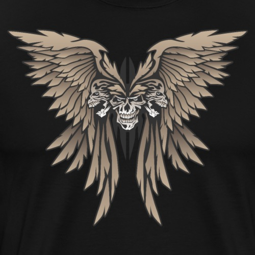 Skulls and Wings Illustration - Men's Premium T-Shirt